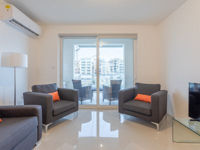 Photo for ELEGANT 2BR APARTMENT WITH BALCONY AND SEA VIEW IN THE HEART OF MALTA!