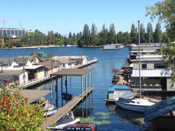 Rare Portage Bay View, New Modern Custom Home,  Perfect Location, Cozy 1 bd rm