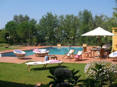 Photo for 900 sqm, pool (20x10), tennis court, Sauna,vine yards