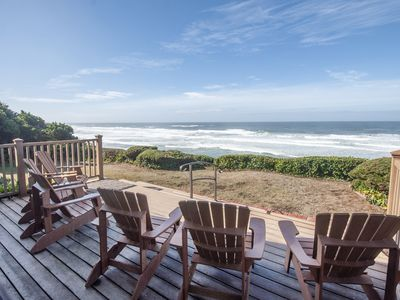 Photo for Popular Single-Level Newport Oceanfront w/ Panoramic Views, Deck + Fireplace!