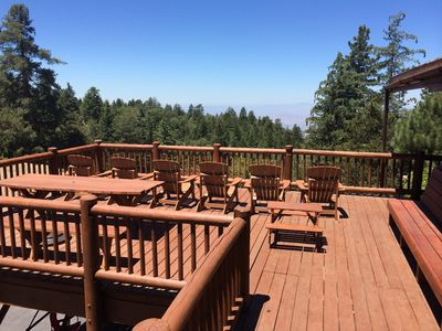 Photo for Luxury Hilltop Log Cabin On 4.5 Acres with Great Views