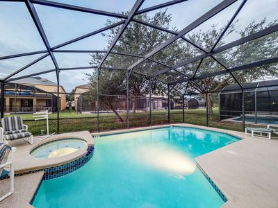 Photo for Large home near Disney with lanai pool/spa & game room - great location!