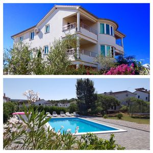 Photo for 4 star apartment in Malinska 150m from the beach with pool, dishwasher, wifi, air conditioning
