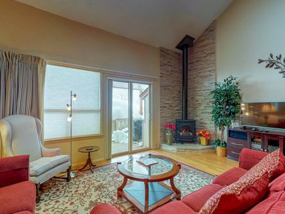 Photo for Waterfront condo near shops, restaurants, parks, & skiing - dogs OK