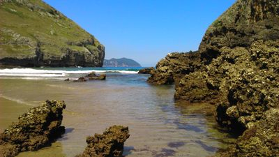 Sonabia beach in low Tide; only 12 minutes from the apartment