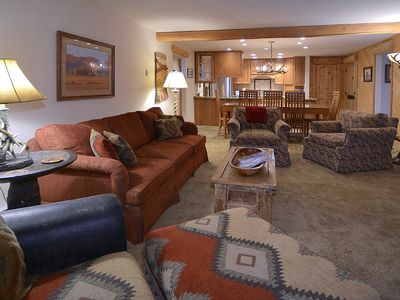 Photo for Extensively Remodeled Ski-In/Out Condo w/ Balcony, Mountain Views, Fireplace
