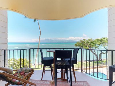 Photo for Oceanfront condo w/ shared pool & spectacular views from private lanai!