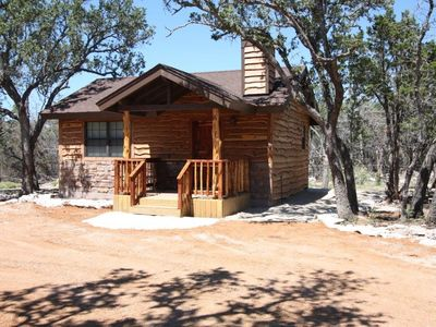 Photo for Cedar Bliss Cabin - Country Property