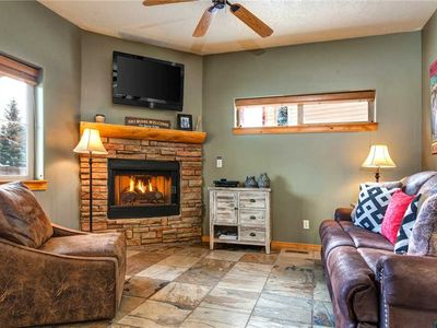 Photo for 5 Min to SKI -Pvt Hot Tub, Fireplace, Clubhouse, Garage Parking, King Bed, WiFi