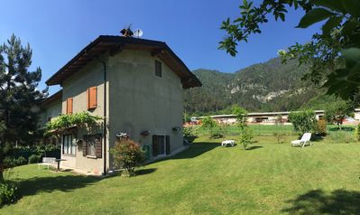 Photo for Holiday Apartment with Garden in the Midst of the Idyllic Surroundings of Lake Garda