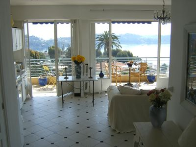 Interior view looking out over Villefranche Bay