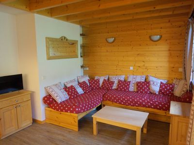 Photo for Large and beautiful duplex for 10 people at the foot of the slopes, south facing balcony
