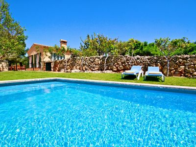 Photo for Finca in Porto Cristo, 3 bedrooms; 3 bathrooms, 1 half bath, pool 4 x 12, lawns