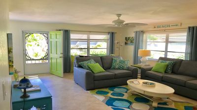 comfortable furnishings & decor with lots of natural light