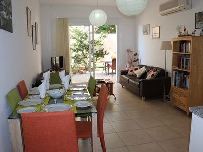 Photo for centre of Peyia village, 2 Bedrooms, communal Pool, Patio/garden, BBQ free wifi