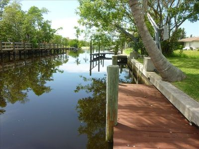 Beautiful View of Your Dock and Canal