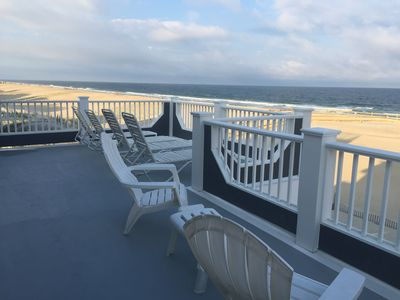 Photo for LBI Oceanfront. Beautiful! Views galore. Dine overlooking the dunes.