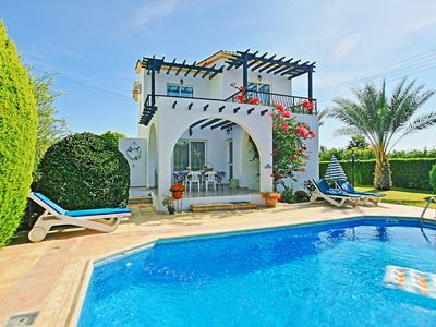 Photo for Lemon Grove Ena: Modern villa with private swimming pool set close to the beach in Argaka