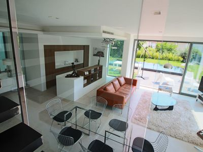 Photo for CAP D'ANTIBES- Superb new contemporary villa, refined services, swimming pool