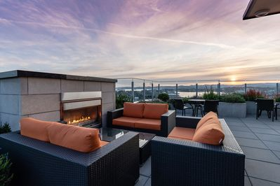 Amazing 360 views atop the most exclusive roof top patio