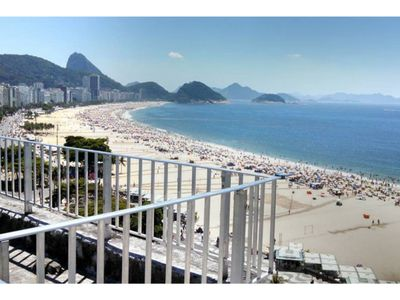 Photo for Copacabana - Terrace facing the beach!