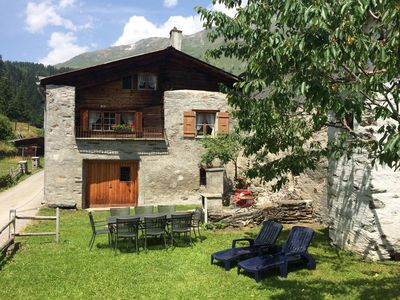 Photo for Cottage sunny and rustic, 2-8 P, in Val Poschiavo, near Engadin