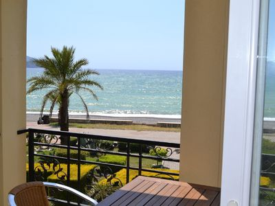 Photo for Sunset A9 1 bedroom beach front holiday apartment, located on Calis beachfront
