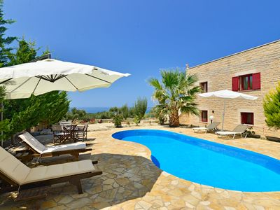 Photo for A villa with private pool and panoramic sea and mountain view