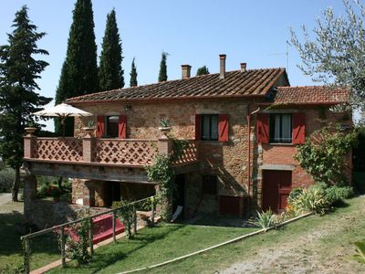 Photo for Old independent farmhouse  in redbricks with private pool and garden. Good value for money. Peaceful