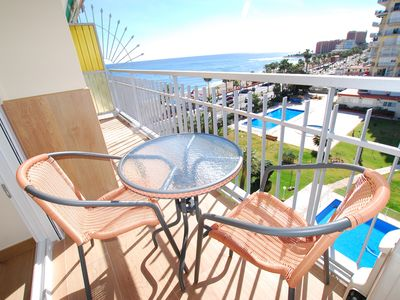 Photo for First line apartment with spectacular sea views in heart of Benalmadena