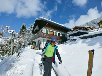 Photo for chalet composed of 2 cottages 12pers and 4 pers 230 to 450E