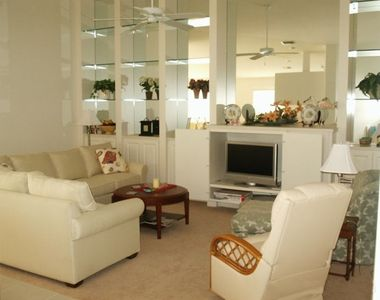 Living room with flat screen TV/DVD, cable