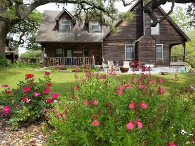 Photo for Newly Remodeled ,Hill Country Two Story Pond House close to Wineries & Brewers
