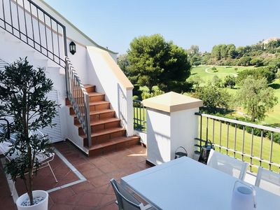 Photo for Penthouse with solarium overlooking the Los Arqueros golf course (Ref 21)