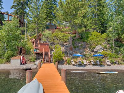 Photo for New Listing: Charming Lakefront Cabin with Private Pier