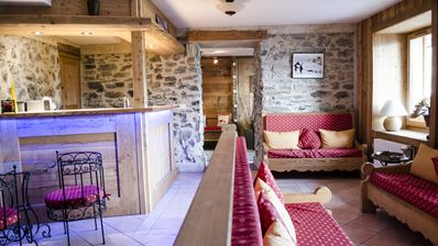Photo for Charming chalet with sauna and jacuzzi, close to the ski slopes