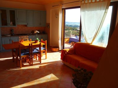 Photo for 2 apartments (for 4 and 6 people) in beautiful villa with sea view