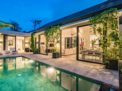 Photo for Vasana, Luxury 2 Bedroom Villa, A/C interior, Near Seminyak
