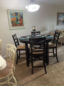 Dining area with new dining set