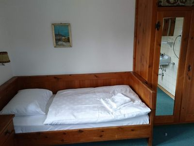 Photo for Single room with fl. Water - Alpenblick, guesthouse