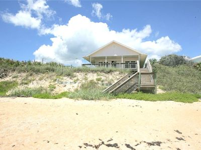 Perched right on beautiful Flagler Beach, Cozy Cottage waits! - Make this your go-to view! You're right on the beach at Cozy Cottage, with only the beautiful natural dunes between you and the orange-tinted sand. Uncrowded and unspoiled, this is the ideal family beach.