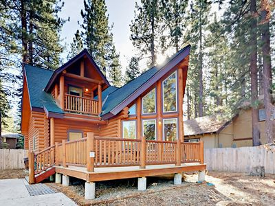 Photo for 3BR Log Cabin w/ Game Room & Spacious Deck - Nearby Restaurants & Trails
