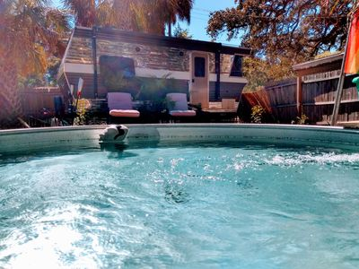 Photo for Cool Retro Trailer Minutes from Downtown St.Pete With Pool