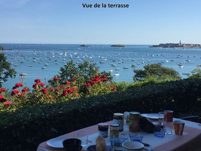 Photo for PANORAMIC SEA VIEW apartment in Dinard