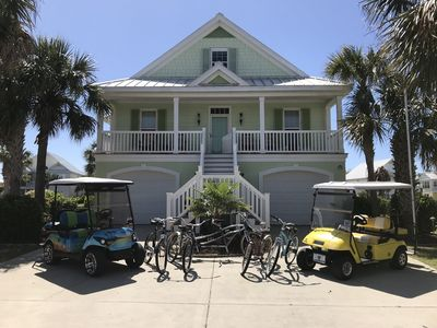 Photo for Luxurious Surfside Family Beach House 5BR 5BA, pools, golf carts, games, more!
