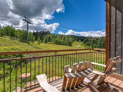 Photo for Ski in/ski out mountainside home near the chondola and base of Chair 10: Slopeside Retreat at the Terraces