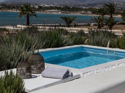Photo for PAROS SANTA MARIA BEACH VILLA ALINA 3 to 4 BEDROOMS. BLENDING RELAXATION & SOPHISTICATION TO CREATE THE IDEAL PLACE