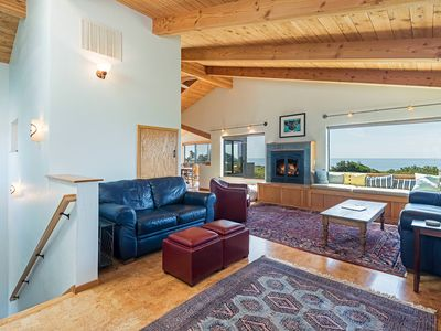 Photo for Pet Friendly Oceanfront House with Hot Tub on Deck & BBQ-Tranquility Base