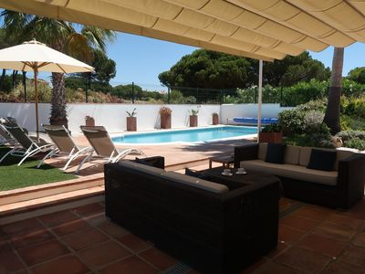 Photo for Luxury 4-bed Airconditioned Villa with heated pool, gardens and courtyard