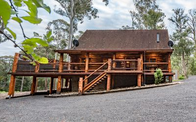 Photo for Incredible luxury log house among the trees, base Mt Buller 3 Bedroom pad